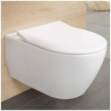 Villeroy&Boch Subway SLIM pakabinamas WC su soft close dangčiu