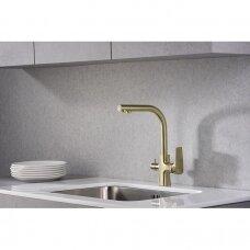 Virtuvės maišytuvas Tivoli su jungtimi filtrui bronza spalvos