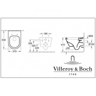 Villeroy&Boch Omnia Architectura su Rimless pakabinamas klozetas su softclose dangčiu 2