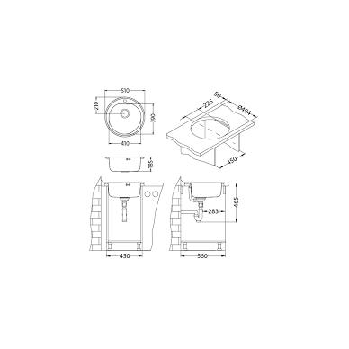 Virtuvinė plautuvė Alveus Form 30 2