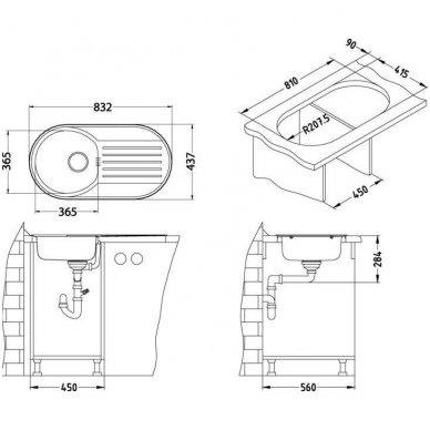 Virtuvinė plautuvė Alveus Form 40 2