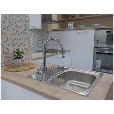 Virtuvinis maišytuvas Optima su ištraukiamu dušu 4