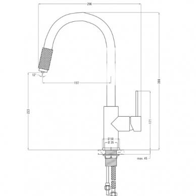 Virtuvinis maišytuvas su filtruoto vandens jungtimi Deante Aster 5