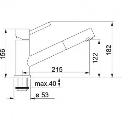 Virtuvinis maišytuvas su ištraukiama žarna Franke Taros 115.0047.987 2