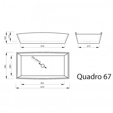 Vispool Quadro 67 pastatomas praustuvas 2