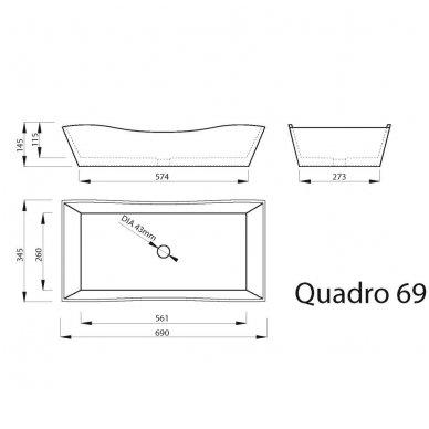 Vispool Quadro 69 pastatomas praustuvas 2