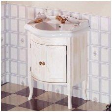 Vonios spintelė Retro 1684 su Kerasan Retro praustuvu 69cm sendinta balta
