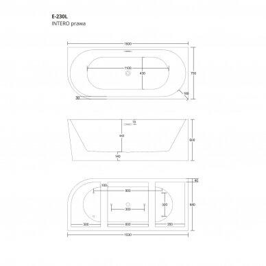 Vonia Corsan E230 160cm dešininė 6