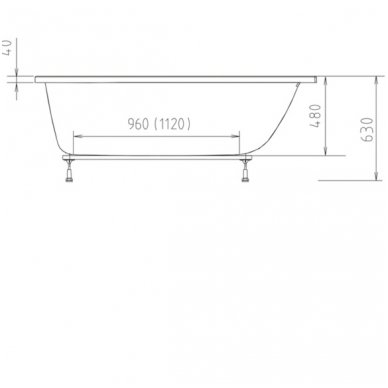 Vonia CLEO 170x75x48 cm Akrilinė 04611 2
