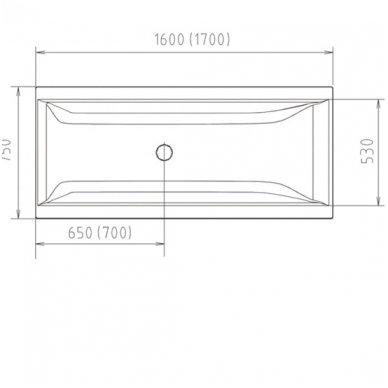 Vonia CLEO 170x75x48 cm Akrilinė 04611 3