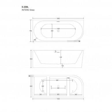 Vonia Corsan E230 160cm kairinė 5