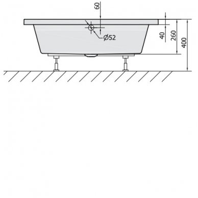 Gilus dušo padėklas DEEP 110x90x26 cm akrilinis 72363 2