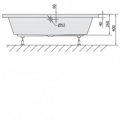 Gilus dušo padėklas DEEP 120x90x26 cm akrilinis 72383 7