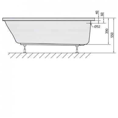 Vonia LILY 140x70x39cm Akrilinė 72201 6