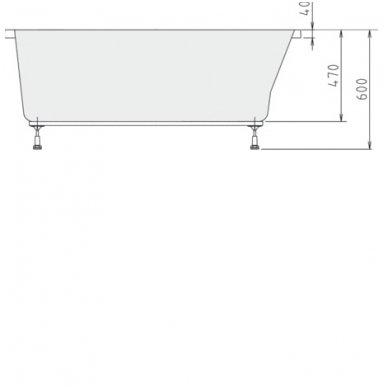 Vonia LISA 150x70x47cm Akrilinė 85111 8