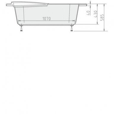 Vonia NAOS L 150x100x43cm Akrilinė 18111 7