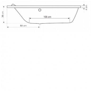 Vonia ORAVA 150x90x38cm kairinė G1590 3