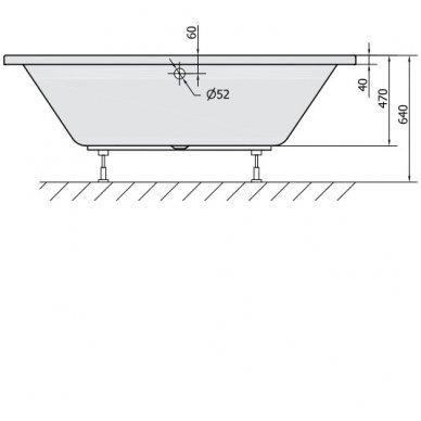 Vonia VIVA B 175x80x47cm Akrilinė 88119 6