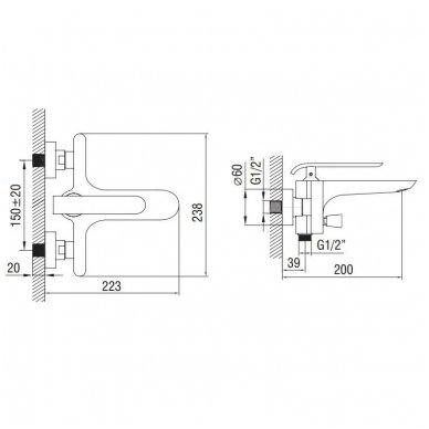 Vonios maišytuvas Art Platino Emira EMI-BWN.020BC 5