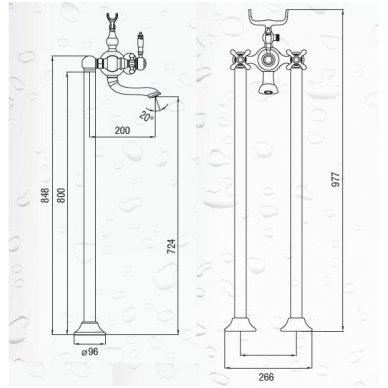 Vonios maišytuvas iš grindų Art Platino Nikolas  NIK-BWP.090C 4