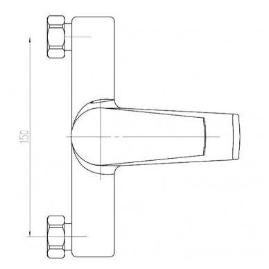 Vonios maišytuvas Aqualine Areta GH126 3