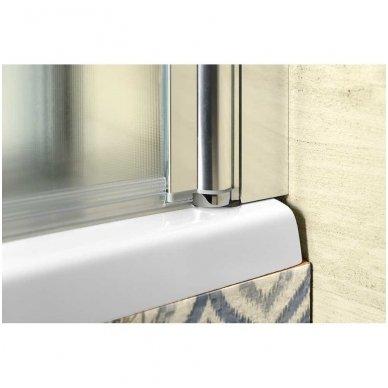 Vonios sienelė Aqualine VANDA AQ1140 matinis stiklas 3