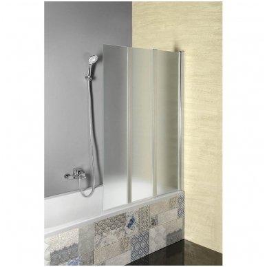Vonios sienelė Aqualine VANDA AQ1140 matinis stiklas