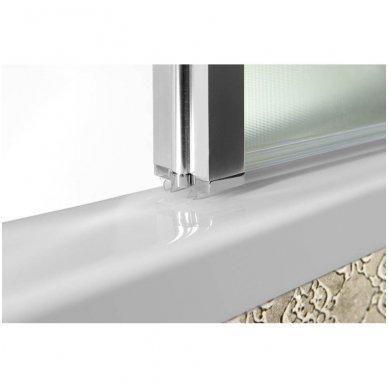 Vonios sienelė Aqualine VANDA AQ1140 matinis stiklas 4