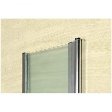 Vonios sienelė Aqualine VANDA AQ1140 matinis stiklas 6