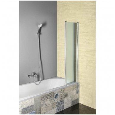 Vonios sienelė Aqualine VANDA AQ1140 matinis stiklas 2