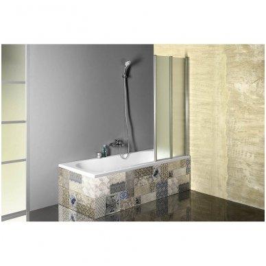 Vonios sienelė Aqualine VANDA AQ1140 matinis stiklas 9