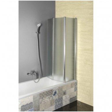 Vonios sienelė Aqualine VANDA AQ1140 matinis stiklas 8
