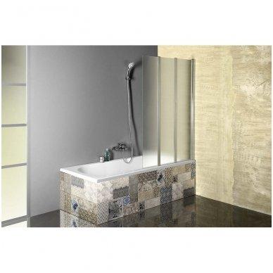 Vonios sienelė Aqualine VANDA AQ1140 matinis stiklas 10