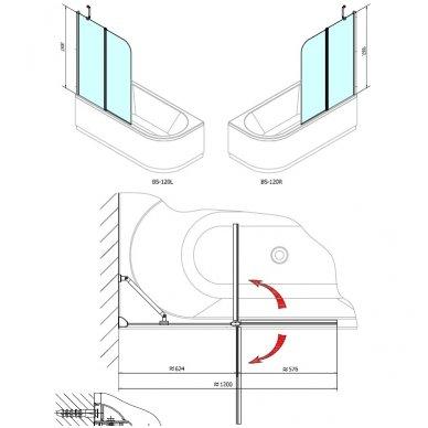 Vonios sienelė Polysan Paloma 120cm pločio 4