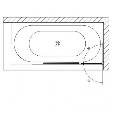 Vonios sienelė RUIZ BSR-90 4