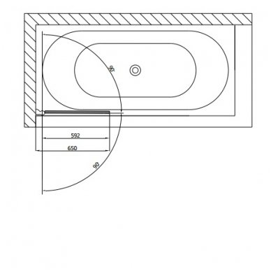 Vonios sienelė SPERA 65 BS-65 4