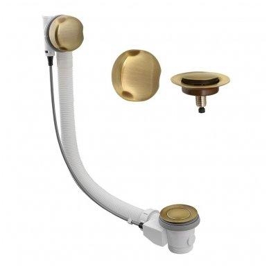 Vonios sifonas automatinis bronzos spalvos dangteliai