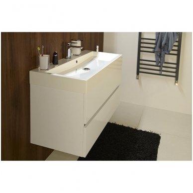 Vonios spintelė Erra Largo 100x42cm balta blizgi su praustuvu 6