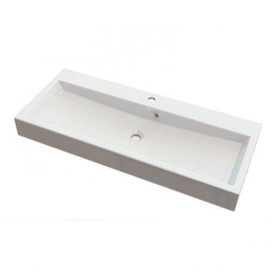 Vonios spintelė Erra Largo 100x42cm balta blizgi su praustuvu 9