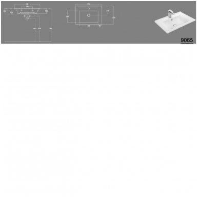 Vonios spintelė Etide su praustuvu 65cm 11