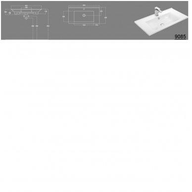 Vonios spintelė Etide su praustuvu 85cm 11