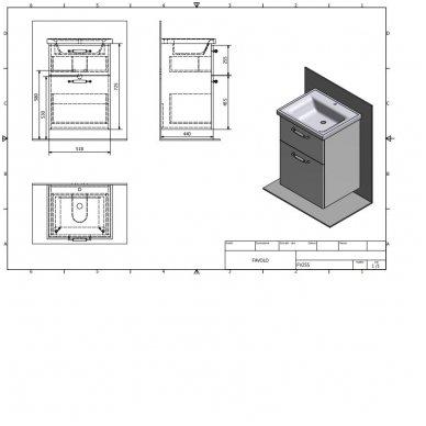 Vonios spintelė Favolo su praustuvu 55cm 11