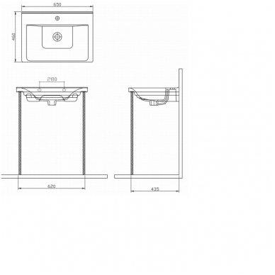 Vonios spintelė Favolo su praustuvu 65cm 14