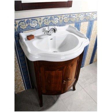 Vonios spintelė Retro 735140 su Kerasan Retro praustuvu 69cm 2