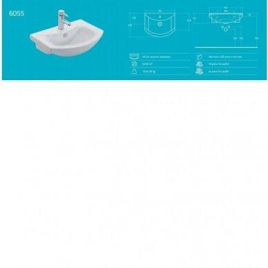 Vonios spintelė su praustuvu Aqualine Zoja 5