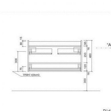 Vonios spintelė su stalviršiu VARIO DEKOR 84x45cm 4