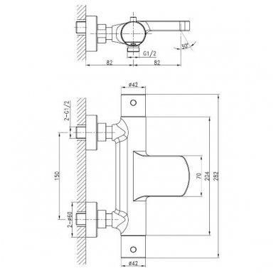 Vonios termostatinis maišytuvas  Sapho Kimura KU292 4
