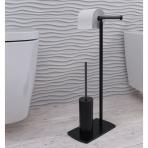 WC Stovas Florida su unitazo šepečiu ir tualetinio popieriaus laikikliu