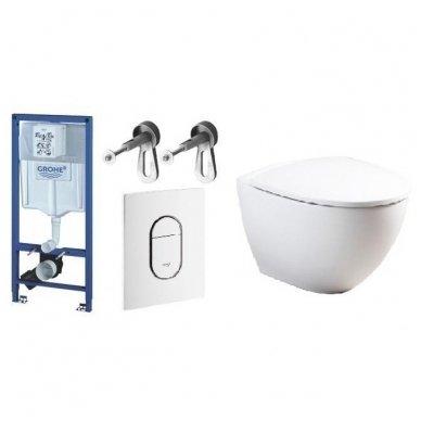 WC rėmo komplektas GROHE Rapid SL ir IFO Sign Art su soft-close dangčiu