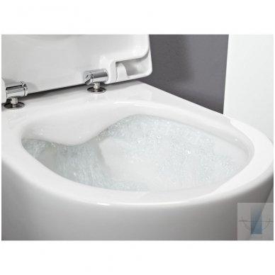 WC rėmo Tece, juodo mygtuko Now ir klozeto Laufen Pro Rimless su plonu lėtaeigiu dangčiu komplektas 5